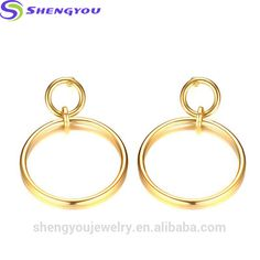 2017 Wholesale Big Round Earring 18k Gold Earrings Women Fashion Jewelry