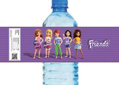 Lego Friends Themed Water Bottle Labels 4 Unique by Crea8iveDesign