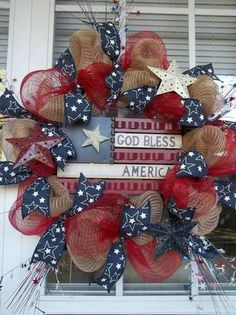 God Bless America wreath: