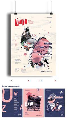 / Limbo / Festival de freak folk by Ro Gal, via Behance / Limbo / Festival der Freaks in Ro Gal, via Behance Poster Design Poster Design, Poster Layout, Graphic Design Posters, Graphic Design Illustration, Graphic Design Inspiration, Design Brochure, Graphic Design Typography, Branding Design, Graphisches Design