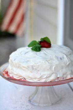 strawberry shortcake...I'm thinkin' I'm going to make a strawberry shortcake cake to bring to Ed and Casey's tomorrow.