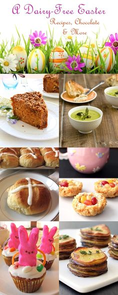 A Dairy-Free Easter: Recipes and More! Sweets, savories + vegan section included.