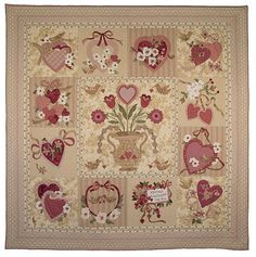 vintage valentine quilt - I am making this now with a group of friends!!