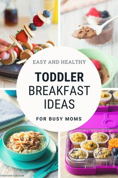 The ultimate list of toddler breakfast ideas. Find breakfast recipes for toddlers that are healthy. Lots of easy breakfast ideas that your toddler will eat! Get the ideas on The Worktop. Healthy Toddler Breakfast, Easy Toddler Meals, Breakfast For Dinner, Best Breakfast, Healthy Breakfast Recipes, Easy Healthy Recipes, Baby Food Recipes, Kids Meals, Easy Meals