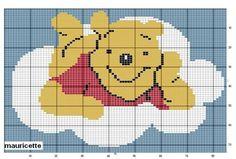Schema punto croce Winnie Nuvola
