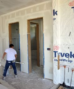 Level 5 drywall finish - rolling on the drywall mud