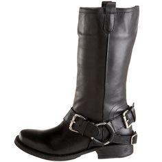 Steve Madden Women's Brinx Motocycle Boot,Black Leather