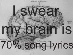 At least 70%. If I can't remember any thing else, I can always remember song lyrics.