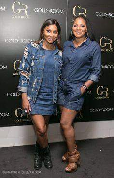 Tamar and Trina last night in Atlanta! Famous Sisters, Famous Girls, Nicole Murphy, New Jack Swing, Tamar Braxton, Black Women Fashion, Women's Fashion, Black Families, Celebrity Look