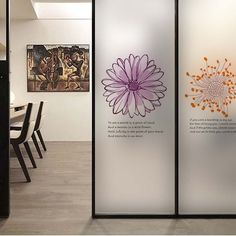 Com : buy flower wall sticker coffee shop transparent glass film window stickers decoration office vinyl mural art decal quote home decor from Flower Wall Stickers, Window Stickers, Window Decals, Wall Decals, Glass Sticker Design, Glass Film Design, Window Graphics, Mural Art, Coffee Shop