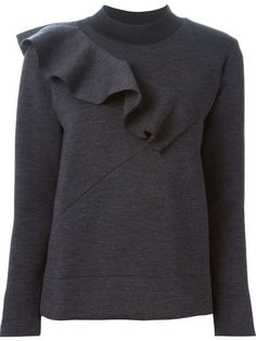 Marni ruffle detail sweater