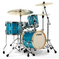 Sonor SSE 13 Martini Turquois Galaxy Sparkle 4-delige shellset #Sonor #Drums #Drumkit