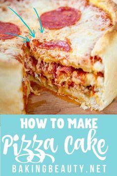 Unique Recipes, Easy Dinner Recipes, Yummy Recipes, Dinner Ideas, Cake Recipes, Pizza Recipes, Cooking Recipes, Pizza Cake, Deep Dish