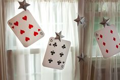 decorate the room in cards