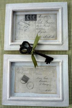 TRANSFERS :: Vintage French Framed Postcard Tutorial & FREE Printables :: #thegraphicsfairy #transfers