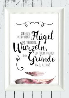 Poster mit weisem Spruch über Freundschaft, Wandgestaltung / poster with wise saying about friendship, wall decor made by homestyle-accessoires via DaWanda.com