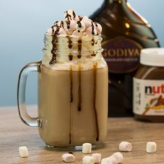 Discover recipes, home ideas, style inspiration and other ideas to try. Hot Chocolate Gifts, Nutella Hot Chocolate, Christmas Hot Chocolate, Chocolate Liqueur, Hot Chocolate Recipes, Bartender Recipes, Alcohol Drink Recipes, Tipsy Bartender, Homemade Food Gifts