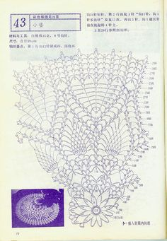 "Photo from album ""Interior crocheted"" on Yandex. Crochet Doily Diagram, Crochet Doily Patterns, Crochet Chart, Thread Crochet, Filet Crochet, Crochet Motif, Crochet Stitches, Mandala Rug, Crochet Dollies"