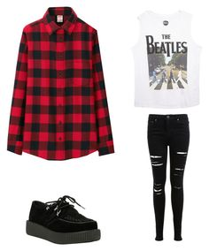 """""""Untitled #566"""" by skyeblizz ❤ liked on Polyvore featuring T.U.K., Wet Seal, Miss Selfridge and Uniqlo"""