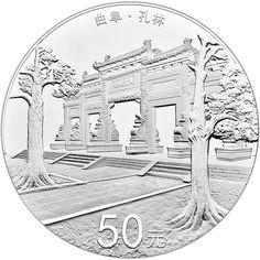 50 Yuan Silber Welterbe - Konfuzius PP