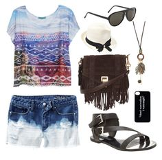"""Sunny Summer Day"" by cclynn on Polyvore featuring Steven by Steve Madden, dELiA*s, Proenza Schouler, Inverni and With Love From CA"