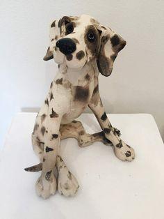 Small Sitting Spotty Dog ceramic