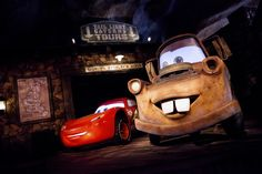 Radiator Springs comes to life with Lightning McQueen and Mater in Cars Land, part of Disney California Adventure Park at the Disneyland Resort