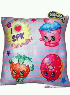 New Shopkins Shopkin Soft Plush Bedroom Cute Decoration Throw Pillow Toy Girls #Shopkin