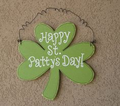 Hanging Happy St. Patty's Day sign for St. Patricks by lisabees