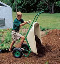 Loadumper Yard and Garden Cart- hinged mechanism to let you tip entire cart, or just the tub