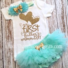 Baby First Fathers Day Outfit  Baby Fathers Day Shirt  My