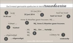 Tips voor de perfecte tekst op je trouwkaart - Pinterested @ http://wedspiration.com.