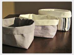 Anleitung Brotkorb / Utensilo nähen - Decoracion de Habitaciones para casa y caja del hogar Fabric Crafts, Sewing Crafts, Sewing Projects, Diy Crafts, Knitting Patterns, Sewing Patterns, Granny Chic, Patchwork Bags, Sewing Basics