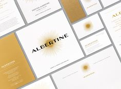 Festival Albertine brochure, letterhead, business card, promotional card, and Coups de Couer card.