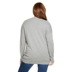 Women's Plus Size Cardigans Heather Gray 2X - Mossimo Supply Co.(Juniors')