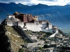 Potala Palace, Tibet - located in Lhasa, Tibet Autonomous Region, China. The Potala Palace was the chief residence of the Dalai Lama until the 14th Dalai Lama fled to Dharamsala, India, after an invasion and failed uprising in 1959. Today the Potala Palace has been converted into a museum by the Chinese. [Extraordinary!]
