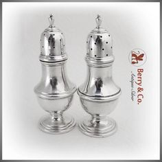 Colonial Revival Salt Pepper Shakers Mueck Carey Towle Sterling Silver : Berry & Company Antique Silver   Ruby Lane