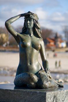Mermaid in Ustka, Poland