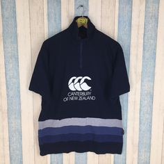 CANTERBURY New Zealand Men Large Black Rugby Shirt Vintage 1990's Canterbury of New Zealand Polo Rugby Shirt Size L by JunkDeluxeRetro on Etsy
