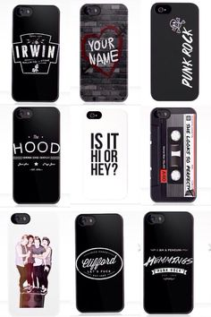 5SOS iPhone cases... Don't like Michael's, but I'd probably get Calum's BC it has my name on it :)