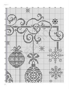 Elegant ornaments - chart, top right