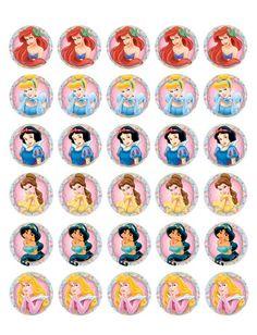 Disney Princesses Edible Mini Cupcake Toppers | eBay