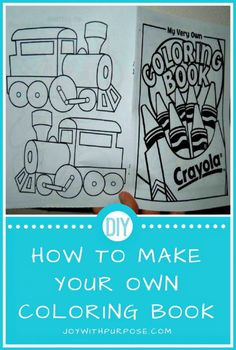 Make Your Own Coloring Book DIY Tutorial