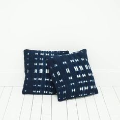 Indigo Blue Bohemian African Mud Cloth Pillows l Birch & Brass Vintage Rentals l Weddings and Corporate Events l Austin, Texas