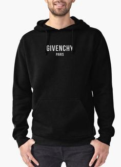 Perfect for post-workout comfort, lounging around the house or running errands around town. Black Hoodie Outfit, Givenchy Hoodie, Plain Hoodies, Printed Hoodies, Givenchy Women, Shirt Sleeves, Half Sleeves, Active Wear, Sweatshirts