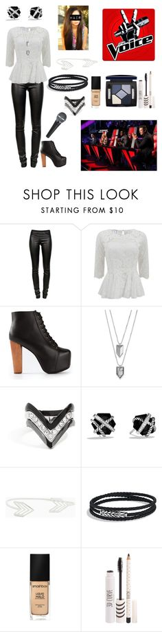 """Auditioning for The Voice"" by elise-22 ❤ liked on Polyvore featuring Helmut Lang, Oscar de la Renta, Jeffrey Campbell, Vince Camuto, GUESS, David Yurman, Smashbox, Topshop and Christian Dior"