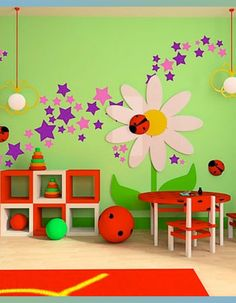 Kids Wall Painting Services In Jeedimetla Kids Wall Decals, Wall Stickers, Wall Vinyl, Wall Art, Star Nursery, Nursery Decor, Magic Room, Home Design, Interior Design
