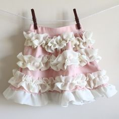 Sweet ruffle skirt. This site has lots of tutorials!