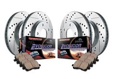 Power Stop Front/Rear Ceramic Brake Pad and Cross Drilled/Slotted Combo Rotor One-Click Brake Kit Power Stop brake kits include a complete set of cross Jeep Jk, Jeep Wrangler Jk, Brakes And Rotors, Ceramic Brake Pads, Brake System, Ford Expedition, Performance Parts, Make It Simple, Autos