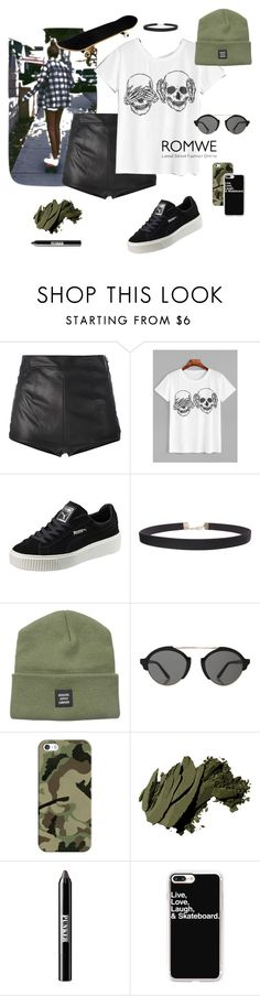 """Skateboard girl"" by outfitealtredipendenze ❤ liked on Polyvore featuring La Perla, Puma, Humble Chic, Herschel Supply Co., Illesteva, Casetify, Bobbi Brown Cosmetics and Ardency Inn"